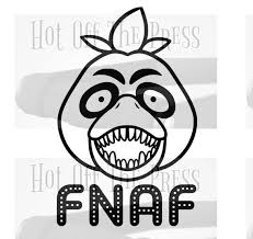 Fnaf Chica Svg Dxf Files For Silhouette For Cricut Vector Etsy