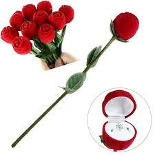 valentine s gift red rose flower ring