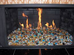 install of a fire and glass fireplace