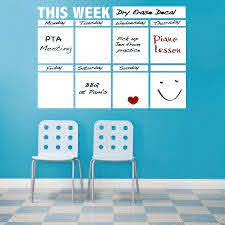 Dry Erase Calendar Decal For Walls White Board Stickers Trendy Wall Designs