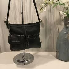 black leather cross bag