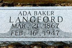 Mary Ada Baker Langford (1867-1947) - Find A Grave Memorial