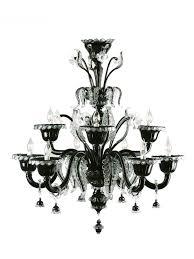 murano chandelier of modern black