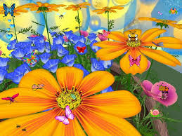 flowers and erflies screensaver for