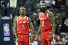Chris Paul and James Harden showing ...
