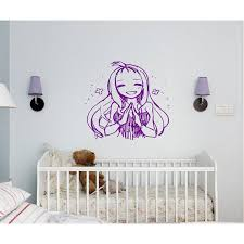 Shop Anime Decal Anime Stickers Anime Vinyl A Girl Prays Girl Anime Sticker Decal Size 22x26 Color Purple Overstock 13287282