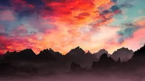 hd wallpaper pastel sunset digital