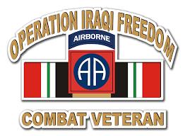82nd Airborne Iraq Combat Veteran 5 5 Die Cut Vinyl Decal Sticker