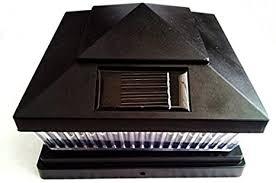 5 X 5 Premium Black Pvc Vinyl Fence Post Cap Solar Light 5 Led Pf86b Pf86b Series 5x5 Fh8 Amazon Ca Electronics