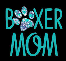 3 99 Boxer Mom Decal In Turquoise Great For Window Mirror Car Truck 5 X 6 Ebay Home Garden Boxer Mom Mom Tumbler Boxer Love