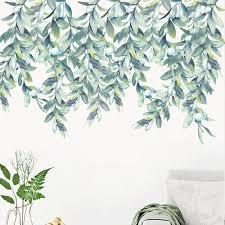 Vova Tropical Leaves Plant Wall Stickers Vinyl Decal Nursery Decor Art Mural Gift