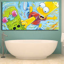 The Simpsons Bart On Skateboard Wall Art Canvas Posters The Simpsons Family