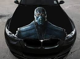 Amazon Com Stikka Vinyl Car Hood Full Color Wrap Graphics Decal Mortal Kombat Sub Zero Sticker 2 33 5 X55 85cm X 140cm Automotive