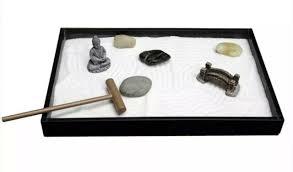 zenfy zen sand garden desk rake rocks