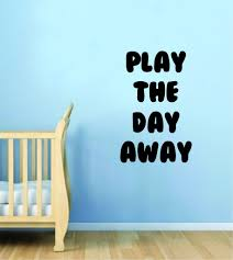 Play The Day Away Wall Decal Sticker Bedroom Room Art Vinyl Home Decor Boop Decals