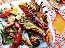 Grilled Lobsters with Miso-Chile Butter ...
