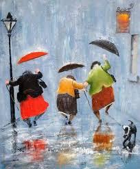 Dancing in the Rain (With images)   Taniec deszczu, Malarstwo ...