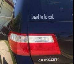I Used To Be Cool Car Or Minivan Vinyl Decal By Rkvinyl Cool Stuff Mini Van Cool Cars