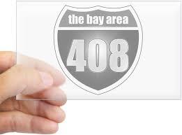 Amazon Com Cafepress Interstate 408 Bay Area Rectangle Sticker Rectangle Bumper Sticker Car Decal Home Kitchen
