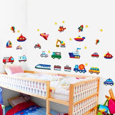 Kids Room Cars Tractor Truck Wall Stickers Gallery Wallrus Free Worldwide Shipping