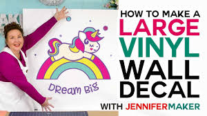 Make A Large Vinyl Wall Decal How To Cut Larger Than Mat On A Cricut Youtube