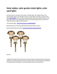 solar garden stake lights solar