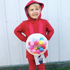 no sew diy gumball machine kids costume