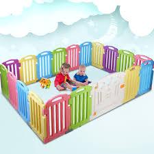Cuddly Baby 19 Panel Plastic Baby Playpen Kids Toddler Fence Bargain Saver