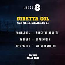 TV8 - Diretta Gol | Questa sera