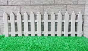 white fence plastic garden fencing