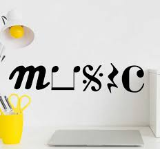 Music In Symbols Musical Wall Sticker Tenstickers
