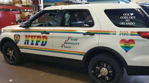 Here Comes The Rainbow Fuzz Nypd Unveils A Fabulous Pride Car Lgbtq Nation