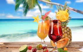 Тропические коктейли - обои для рабочего стола.