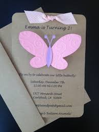 Butterfly Invitations Custom Made And Handmade By Simpleandposh
