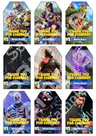 Premium Fortnite Party Thank You Tags Instant Download