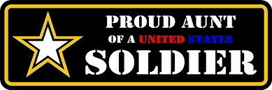 Amazon Com Proud Aunt Of A Us Army Soldier Decal Sticker 2 X6 Everything Else