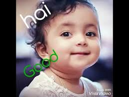 cute baby s video says hai and