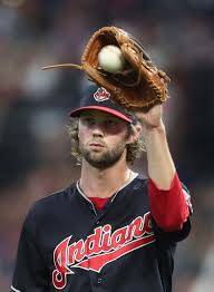Cleveland Indians relief pitcher Adam Cimber pitching against the  Pittsburgh Pirates in the 8th inning at Progressive Field. July 24, 2018.  (Chuck Crow/The Plai…