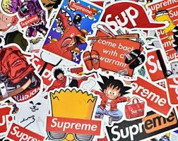 Supreme Stickers Etsy
