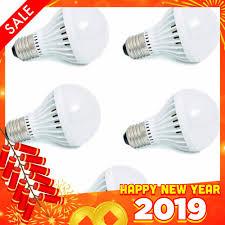 Giảm 25 %】 Bộ 5 bóng đèn LED tròn siêu tiết kiệm điện 12W (ánh sáng trắng)