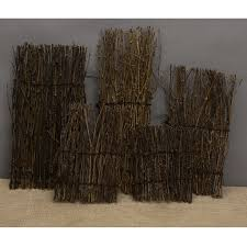 Fenteer Grass Bamboo Fence Screen Divider Fencing Garden Fences Wooden Border Wood 5 Size Options Lazada Ph