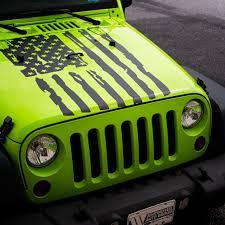 Jeep Jku Tattered Flag Hood Decal Inshane Designs
