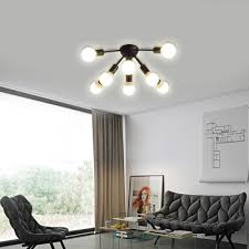 bare bulb bedroom ceiling light fixture