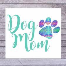 Dog Mom Car Decal Dog Mom Sticker Dog Mom Cup Decal Dog Etsy