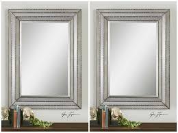 two l 47 antiqued mirror metal frame