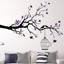 Black Tree Branch Wall Decal Limb Cat On White Art Nursery Buy Vamosrayos