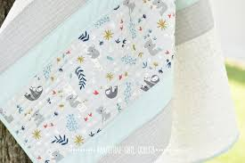 simple stripe baby quilt tutorial