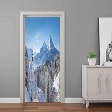 Amazon Com Winter Wall Decal Stickers Snowy Bavaran Alps With Maria Gern With Famous Watzmann Massif Scenes From Germany Vinyl Decal Door For Home Decoration 32 W X 80 H Baby