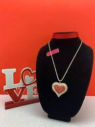crystal rhinestone pendant necklace