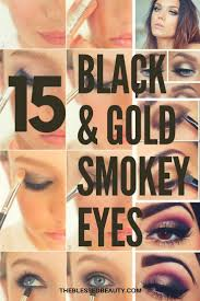 gold and black smokey eye tutorials